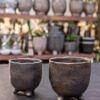 keramika, keramikinis vazonas, keramikinis vazonelis, juodas vazonas, augalai, geles vilniuje