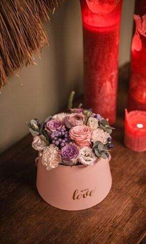 """Gėlių dėžutė """"Su meile"""""""